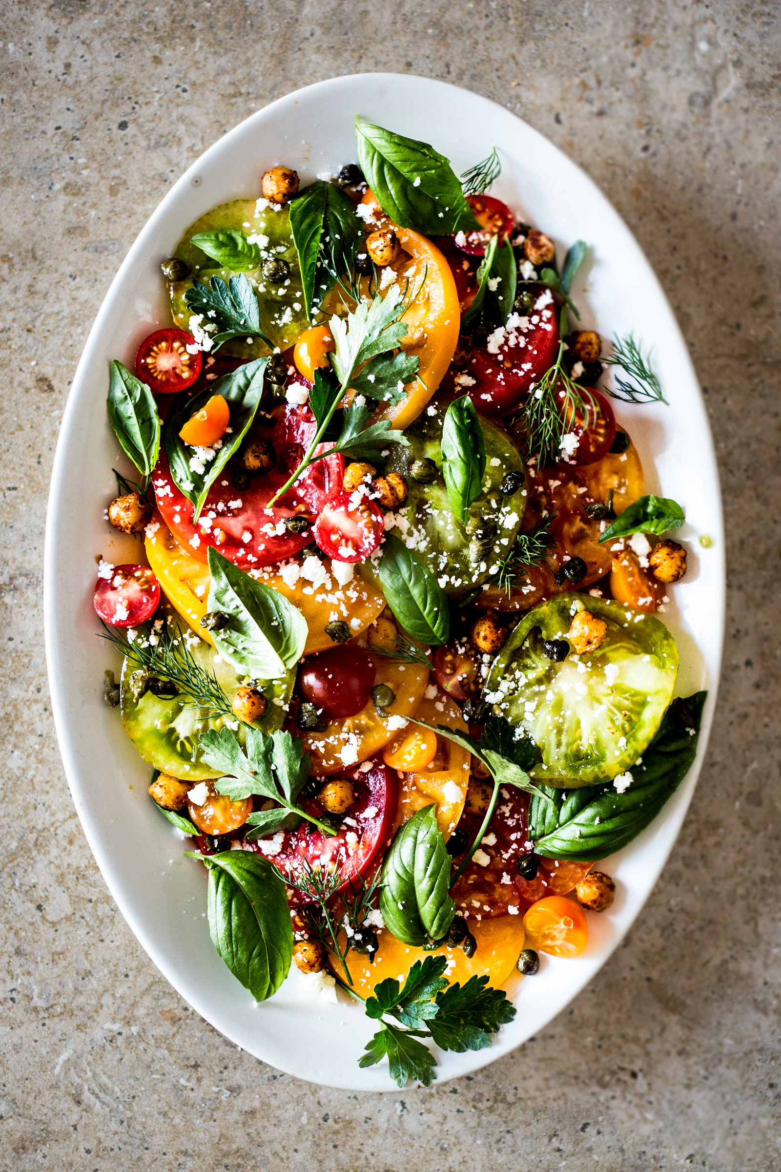 Heirloom Tomato & Herb Salad - Dishing Up the Dirt