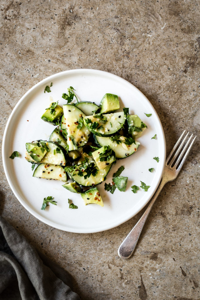 Sesame-Miso Cucumber Salad - Dishing Up the Dirt