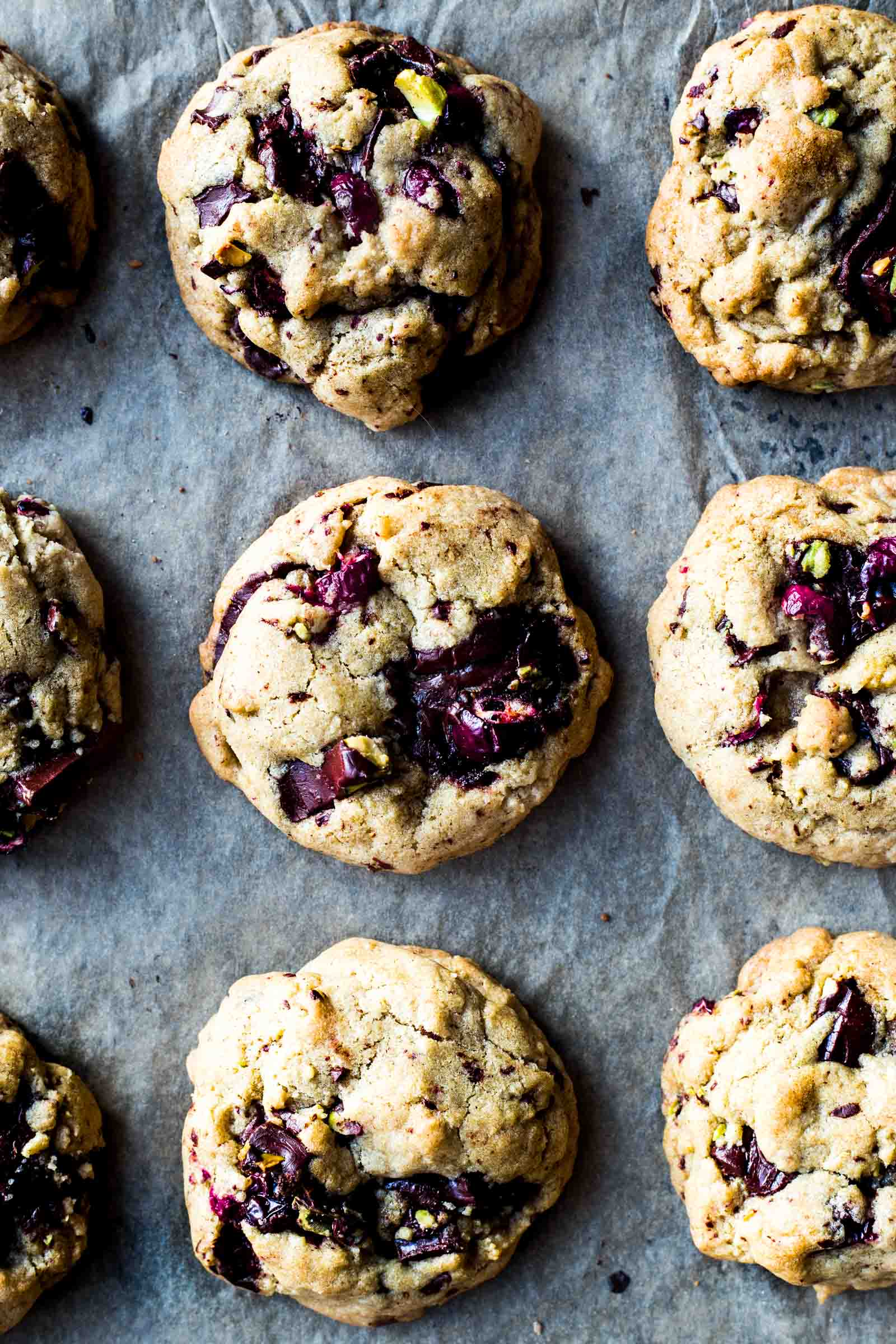 Chocolate & Cranberry Bark Coconut Oil Cookies - Dishing Up the Dirt