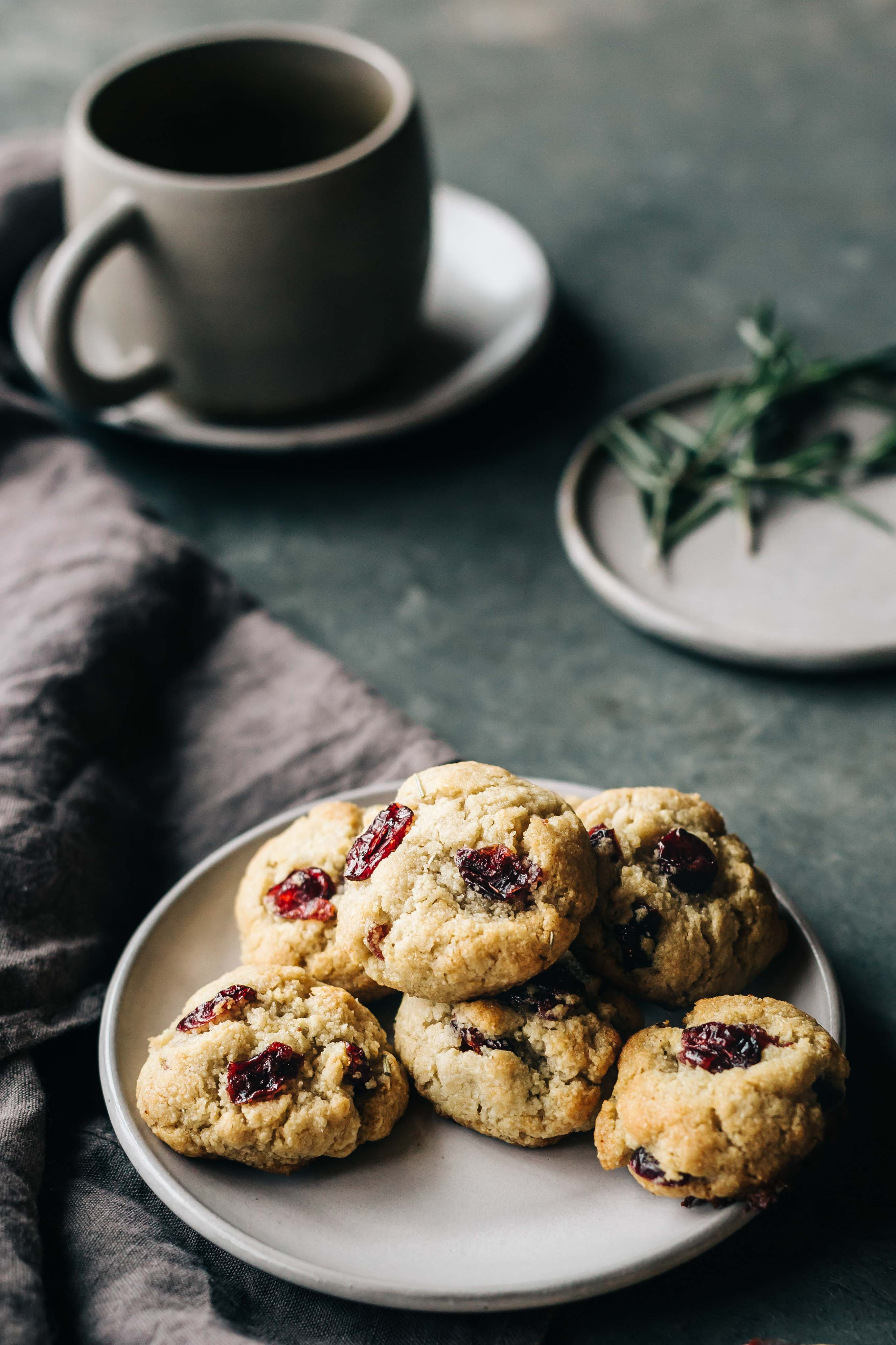 Honey Lemon Rosemary Almond Flour Cookies With Cranberries Sea Salt Dishing Up The Dirt